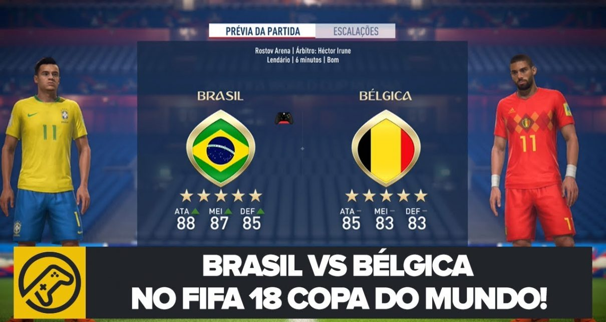 BRASIL VS BÉLGICA NO FIFA 18 DA COPA DO MUNDO! – Blog Joinville ... cf1d3b0482b41