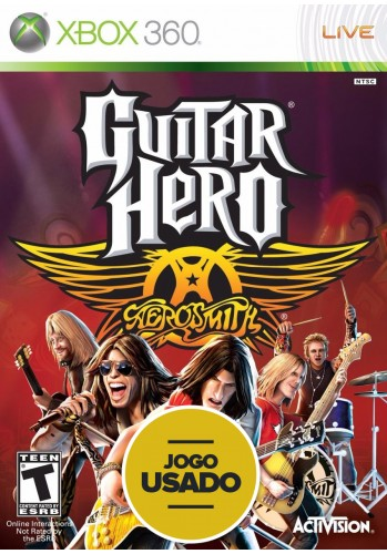 Guitar Hero Aerosmith - XBOX 360 ( Usado )