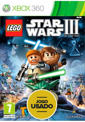 Lego Star Wars III: The Clone Wars (seminovo) - Xbox 360