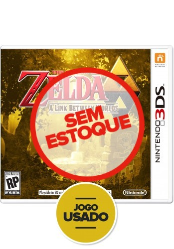 The Legend of Zelda: A Link Between Worlds - 3DS ( Usado )