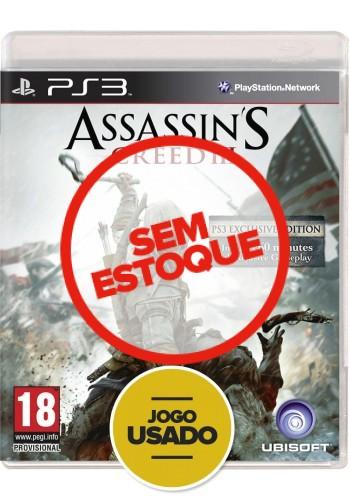 Assassin's Creed 3 (seminovo) - PS3