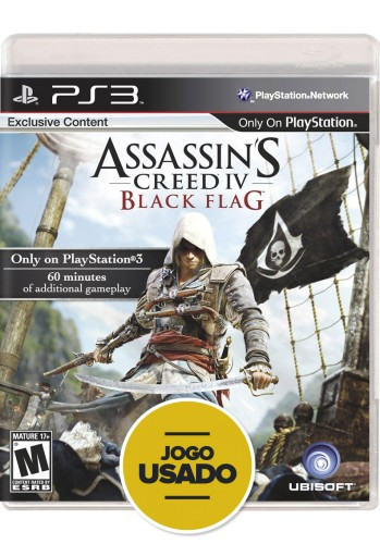 Assassins Creed 4: Black Flag (seminovo) - PS3