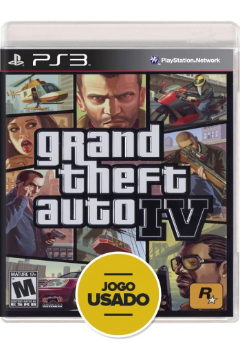 GTA IV - Grand Theft Auto (seminovo) - PS3