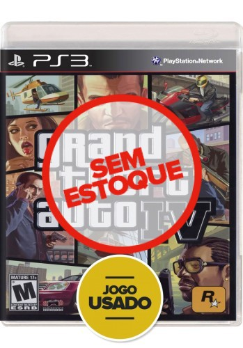 GTA IV - Grand Theft Auto (seminovo) - PS3