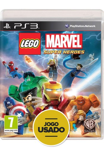 Lego Marvel Super Heroes - PS3 ( Usado )