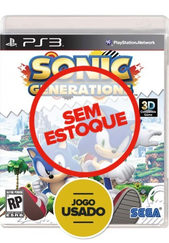 Sonic Generations - PS3 (Usado)