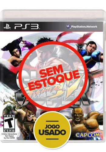 Super Street Fighter IV (seminovo) - PS3