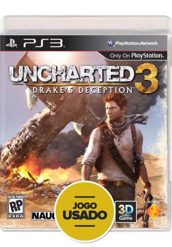 Uncharted 3 : Drake's Deception (seminovo) - PS3
