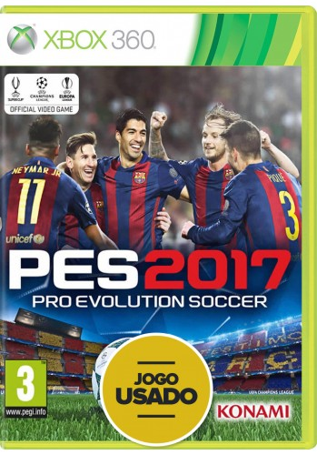 PES 2017 (Pro Evolution Soccer) - Xbox 360 ( Usado )
