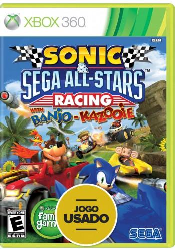 Sonic & All Star Racing (com Banjo-Kazooie) - Xbox 360 (Usado)