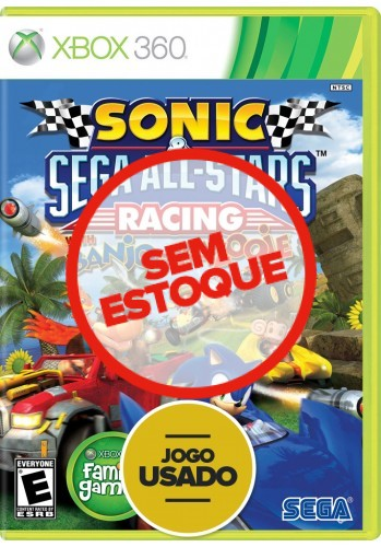 Sonic & All Star Racing (com Banjo-Kazooie) - Xbox 360 (Usado)
