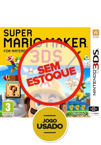 Super Mario Maker - 3DS ( Usado )