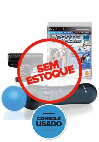 Kit Playstation Move - PS3 ( Usado )