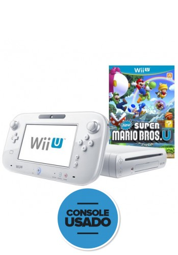 Nintendo Wii U 8GB + New super mario bros U ( Usado )