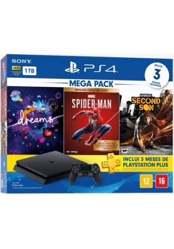 Playstation 4 Slim 1TB + 3 Jogos + 3 meses PSN