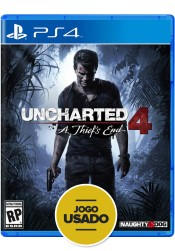 Uncharted 4: A Thief's End - PS4 ( Usado )