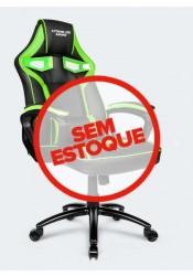Cadeira Gamer Raptor C/Apoio Lmbar - Descansa Braços - AJuste de Altura - CH04GE - Verde/Preto - ELG