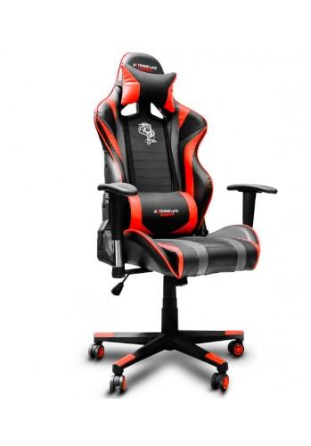 Cadeira Gamer Black Hawk C/Apoio Cervical - Encosto Reclinável - Descansa Braços - Ajuste de Altura - CH05BKRD - Vermelho/Preto - ELG