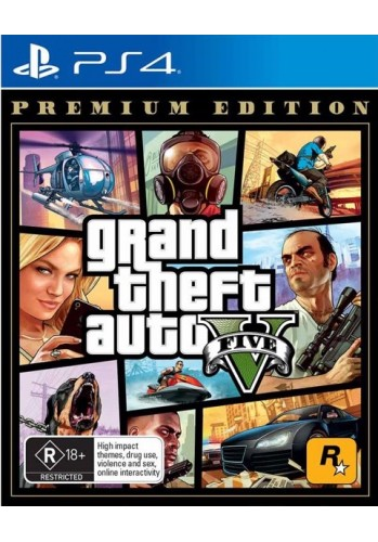 GTA V: Grand Theft Auto - PS4 (Premium Edition)