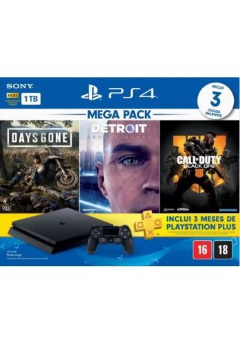 Playstation 4 Slim 1TB + 3 Jogos + 3 meses da PSN ( Totalmente em Português )