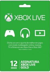 Assinatura Xbox Live Gold 12 meses