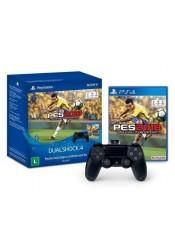 Controle Dualshock 4 + PES 2018 - PS4