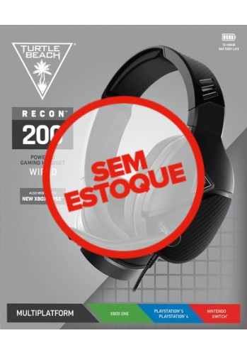 Headset Turtle Beach Recon 200  - (PS5, PS4, PC, XBOX One/Series e Nintendo Switch)